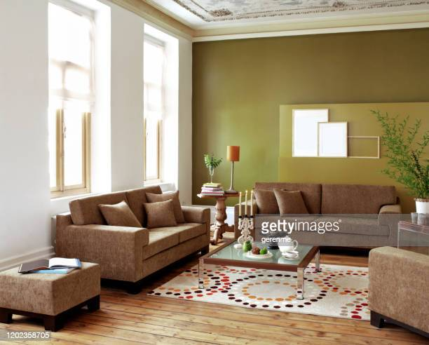 living room - two seater sofa stock pictures, royalty-free photos & images