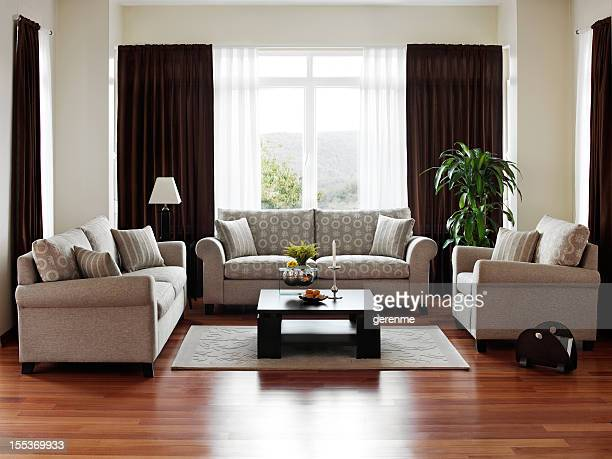 living room - hardwood stock pictures, royalty-free photos & images
