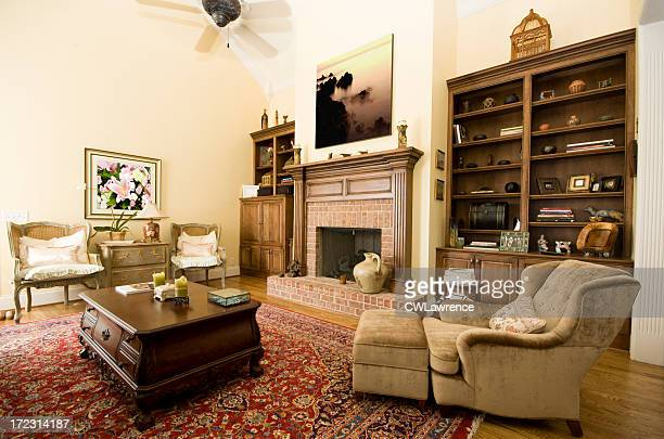 living room - persian rug stock photos and pictures