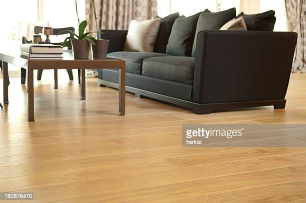 living room - wooden floor stock pictures, royalty-free photos & images