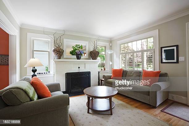 living room - home interior stock pictures, royalty-free photos & images