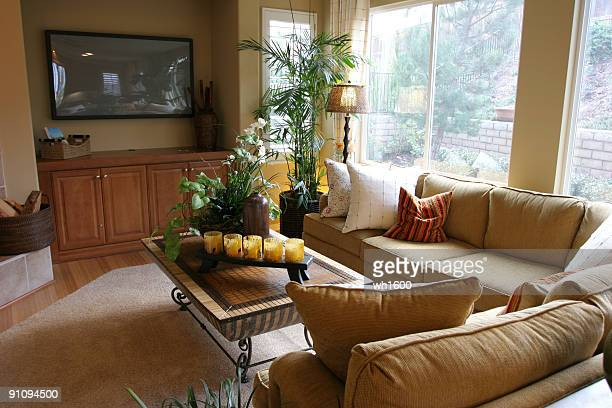 living room series - crown molding stock photos and pictures