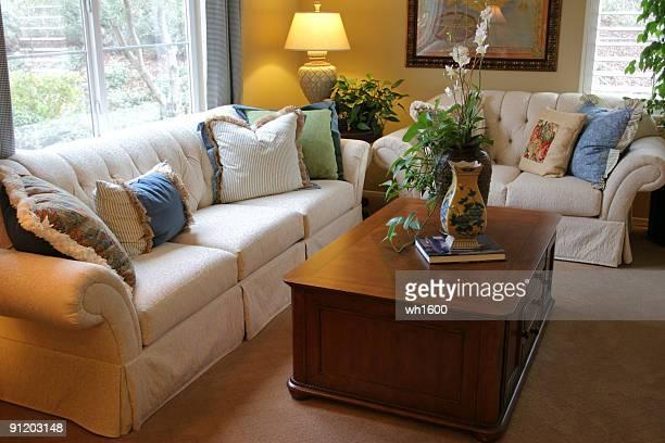 living room series - crown molding stockfoto's en -beelden