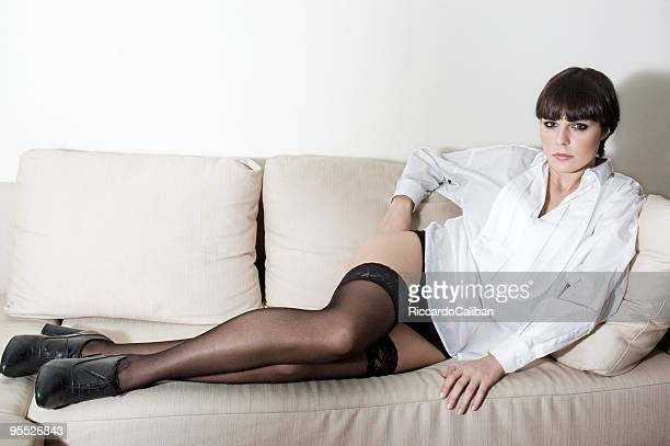 living room series - stocking tops stock photos and pictures