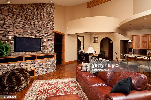 living room with architecture details - persian rug stock photos and pictures