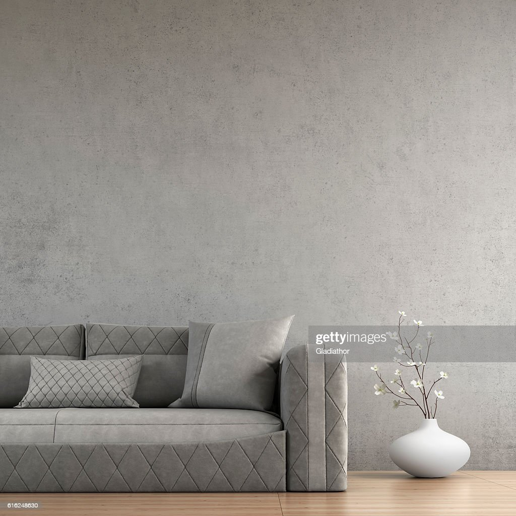 Living room with sofa and decoration : Stock Photo