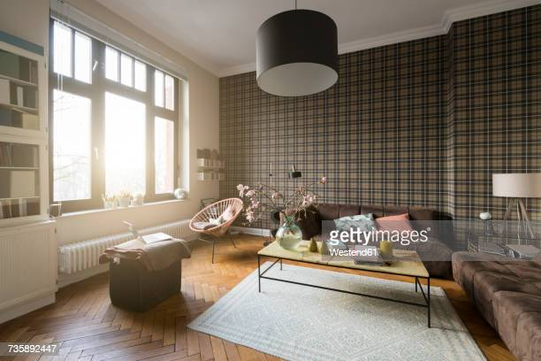 living room with window - wohnung stock-fotos und bilder
