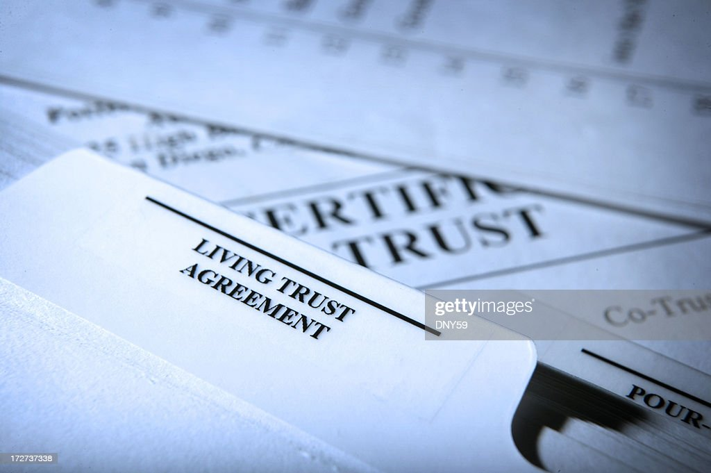 Living Trust Documents : Stock Photo