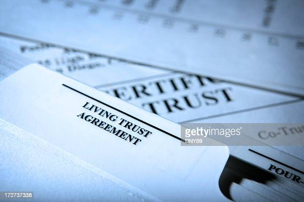 living trust documents - trust stock pictures, royalty-free photos & images