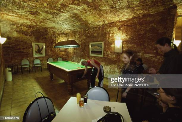 Living Underground In Coober Pedy AustraliaThe bar at Coober Pedy's underground Desert Cave Hotel is equipped with a pool table