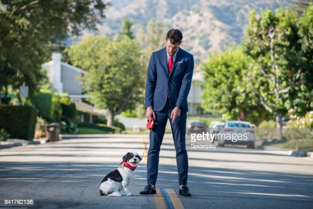 Living with Pets - Businessman and the Morning Dog Routine