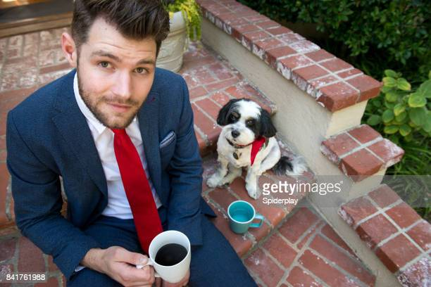 Living with Pets - Morning Coffee with my Dog