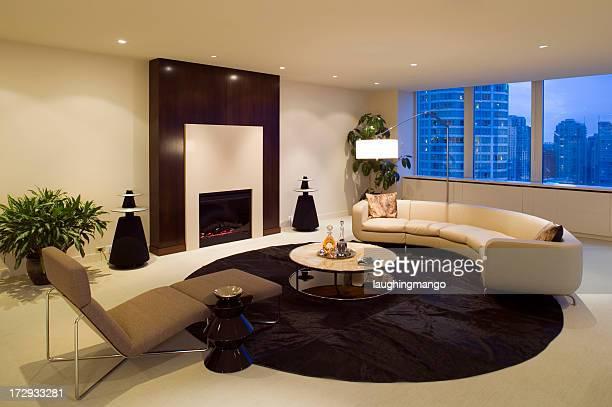 livingroom condominium furniture - feng shui stock photos and pictures