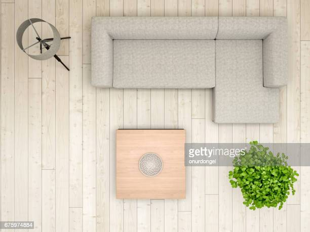 livingroom overhead view - directly above stock pictures, royalty-free photos & images