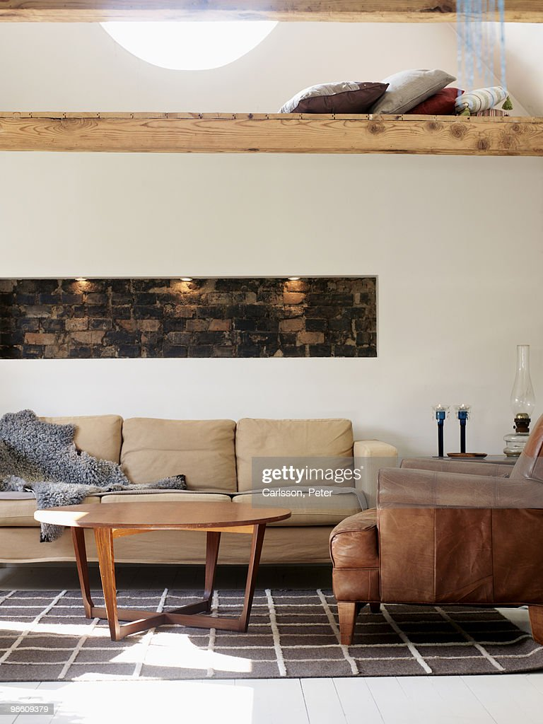 A living-room, Sweden. : Stock Photo