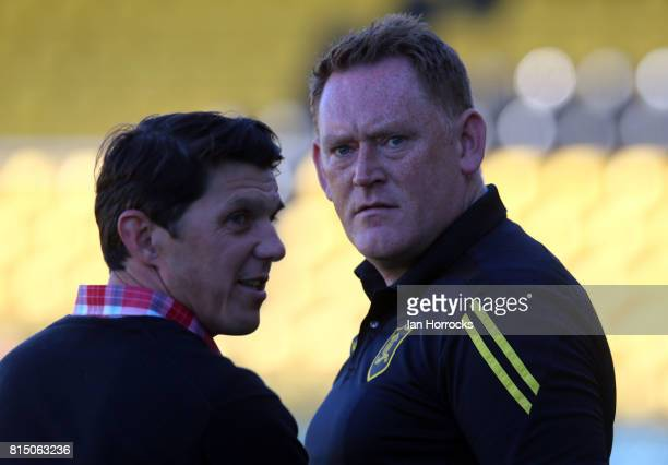 Livingston manager David Hopkin during a preseason friendly match between Livingston FC and Sunderland AFC at the Almondvale Stadium on July 12 2017...
