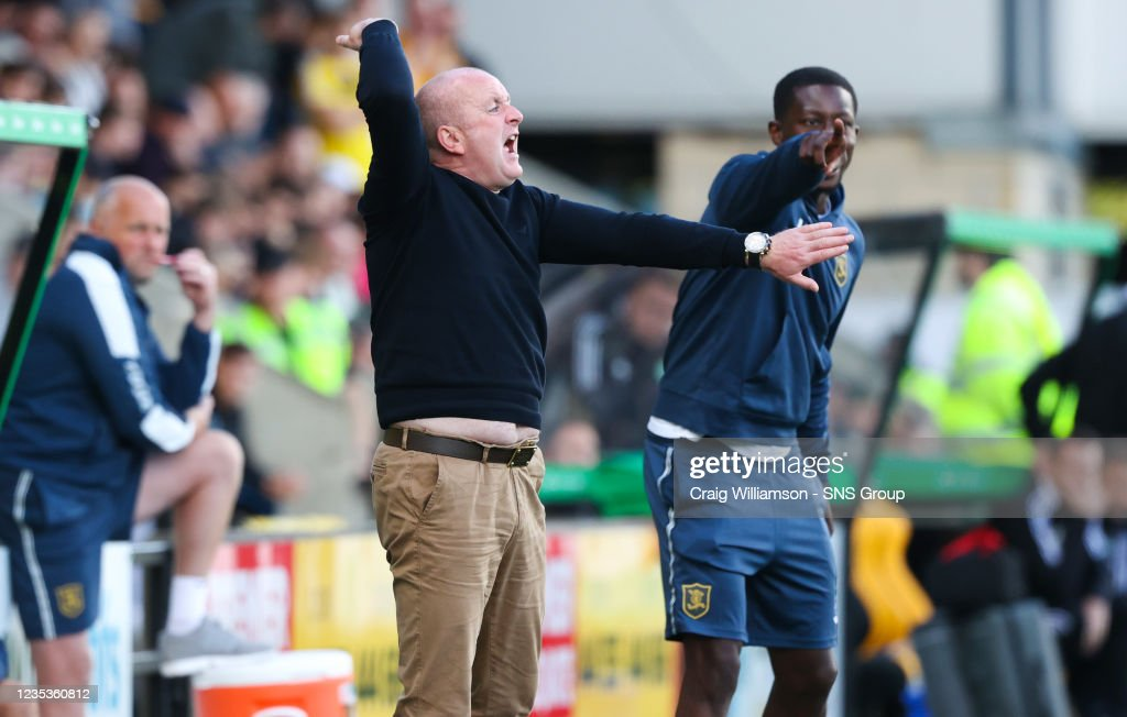 Livingston manager David Martindale during a cinch Premiership match...  News Photo - Getty Images