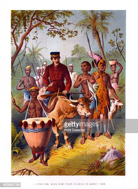 'Livingstone Weak From Fever Escorted to Shinte's Town' 19th century David Livingstone arrived in Africa in 1840 at the age of 27 as a missionary and...