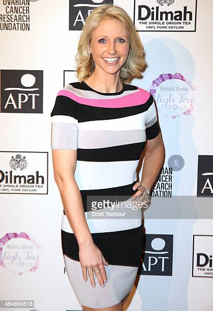Livinia Nixon arrives ahead of The Australian Women's Weekly and OCRF High Tea at Crown Melbourne on August 21 2015 in Melbourne Australia