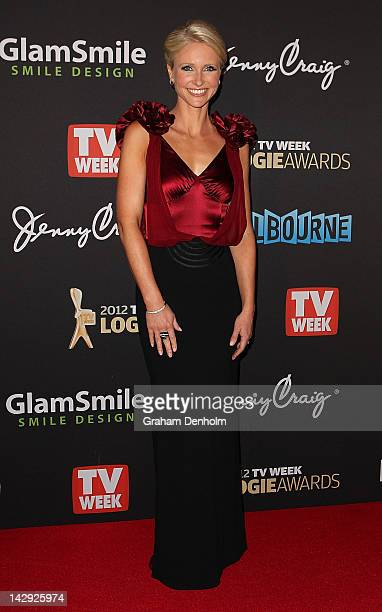 Livinia Nixon arrives at the 2012 Logie Awards at the Crown Palladium on April 15 2012 in Melbourne Australia