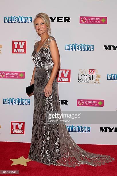 Livinia Nixon arrives at the 2014 Logie Awards at Crown Palladium on April 27 2014 in Melbourne Australia