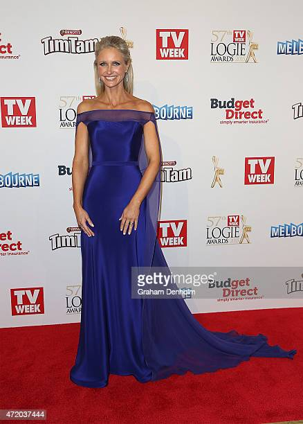 Livinia Nixon arrives at the 57th Annual Logie Awards at Crown Palladium on May 3 2015 in Melbourne Australia