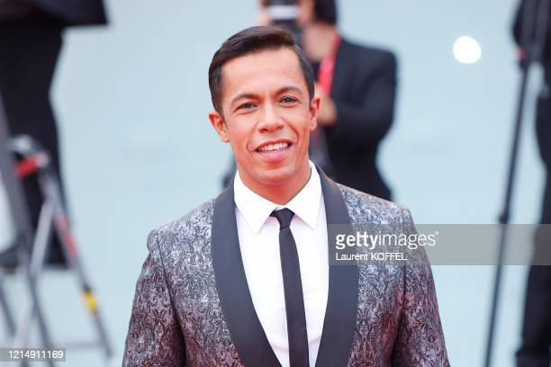 Livio Beshir walks the red carpet ahead of the closing ceremony of the 76th Venice Film Festival at Sala Grande on September 07 2019 in Venice Italy