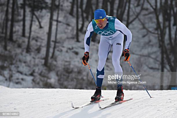 Livo Niskanen competes during the Cross-Country Men's 50km Mass Start at Alpensia Cross-Country Centre on February 24, 2018 in Pyeongchang-gun, South...