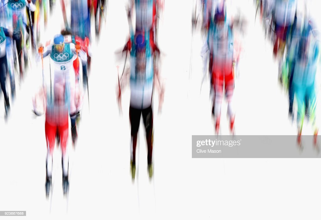 Livo Niskanen of Finland in action on his way to a gold medal during the Cross Country Skiing, Mens 50km Mass Start Classic event at Alpensia Cross-Country Centre on February 24, 2018 in Pyeongchang-gun, South Korea.