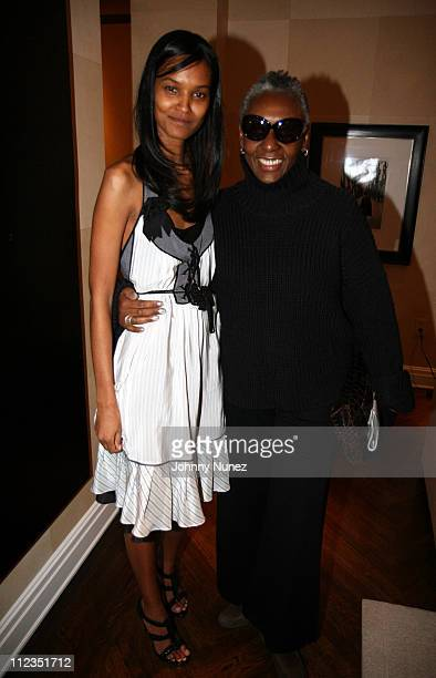 Liya Kebede and Beth Ann Hardison during Erica Reid and Edmondo Castillo Host A Holiday Shopping Night to Support the Liya Kebede Foundation at LA...