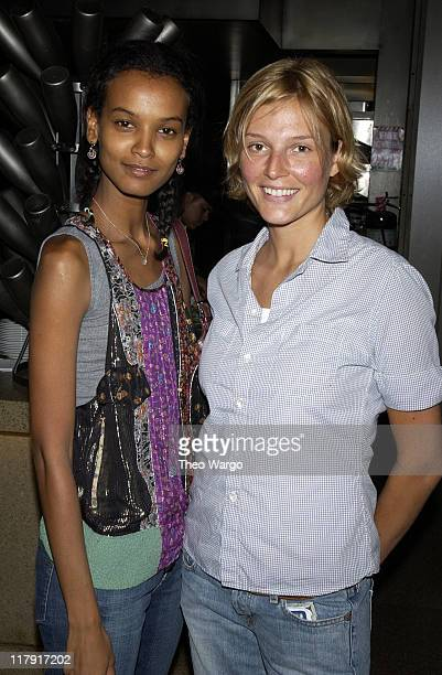 Liya Kebede and Bridget Hall during Tennis Magazine's Grand Slam Party at Metrazur in Grand Central Station at Grand Central Terminal in New York...