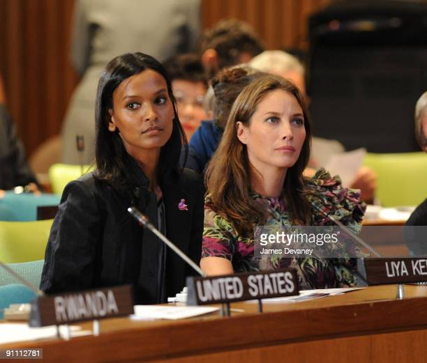 Liya Kebede and Christy Turlington Ambassadors for the Healthy Women Healthy Children Investing in Our Common Future event attend the UN General...