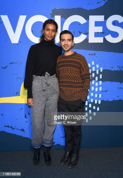 Liya Kebede and Imran Amed during #BoFVOICES on November 21, 2019 in Oxfordshire, England.