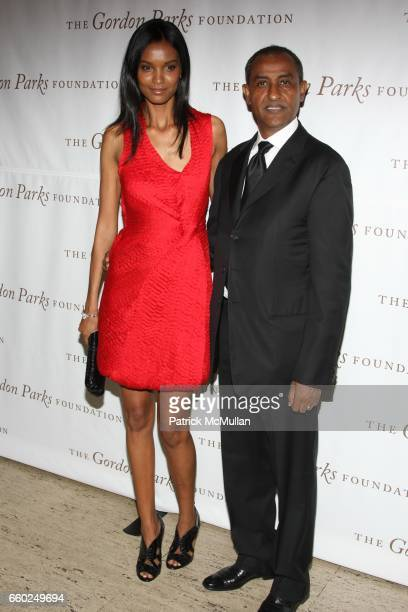 Liya Kebede and Kassy Kebede attend Celebrating Fashion Gala Awards Dinner to Support The GORDON PARKS Foundation at Gotham Hall on June 2 2009 in...