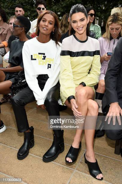 Liya Kebede and Kendall Jenner attend the Longchamp SS20 Runway Show at Hearst Plaza, Lincoln Center on September 07, 2019 in New York City.