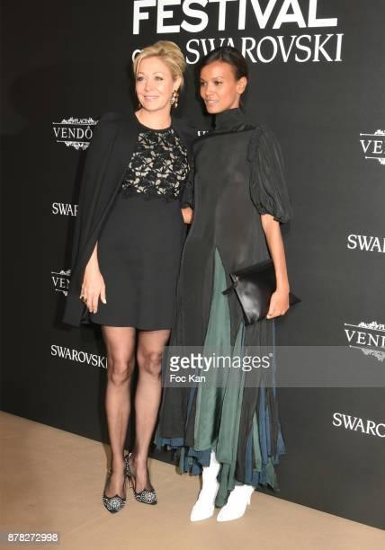 Liya Kebede and Nadja Swarovski attend the 'Vogue Fashion Festival' Opening Dinner on November 23 2017 in Paris France