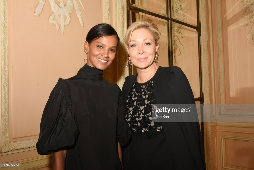 Liya Kebede and Nadja Swarovski attend the 'Vogue Fashion Festival' Opening Dinner on November 23, 2017 in Paris, France.