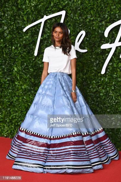Liya Kebede arrives at The Fashion Awards 2019 held at Royal Albert Hall on December 02 2019 in London England