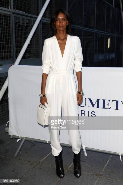 Liya Kebede arrives at 'Tresor d'Afrique'unvelling of Chaumet High Jewelery party as part of Haute Couture Paris fashion week on July 1 2018 in Paris...