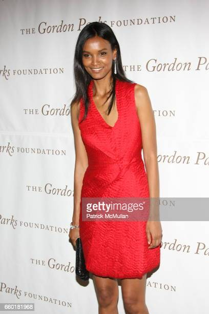 Liya Kebede attends Celebrating Fashion Gala Awards Dinner to Support The GORDON PARKS Foundation at Gotham Hall on June 2 2009 in New York City