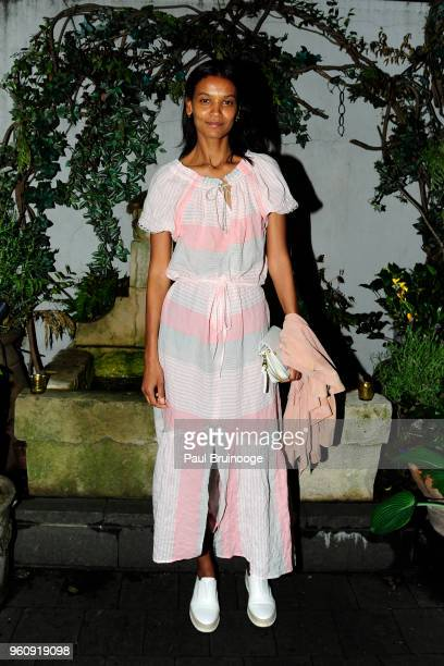 Liya Kebede attends OWN With The Cinema Society Host A Party For Ava DuVernay And 'Queen Sugar' at Laduree Soho on May 20 2018 in New York City
