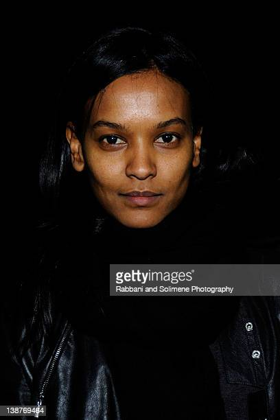 Liya Kebede attends the Alexander Wang Fall 2012 fashion show during MercedesBenz Fashion Week at Pier 94 on February 11 2012 in New York City