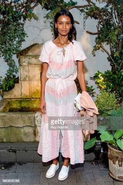 Liya Kebede attends The Cinema Society with OWN host the 'Queen Sugar' garden cocktail party at Laduree Soho on May 20 2018 in New York City