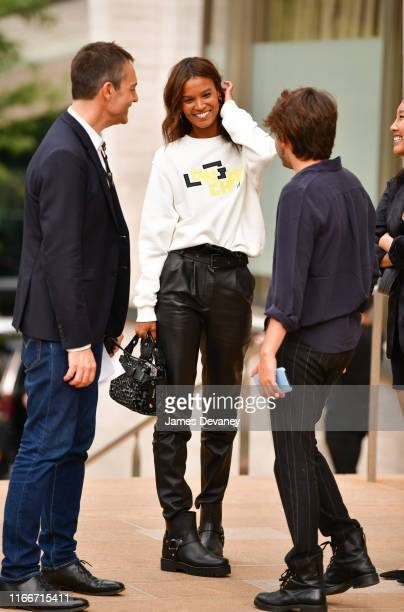 Liya Kebede attends the Longchamp SS20 Runway Show at Hearst Plaza Lincoln Center on September 7 2019 in New York City