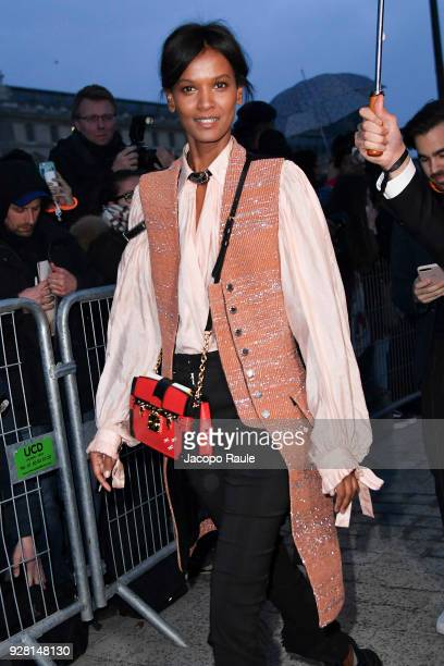 Liya Kebede attends the Louis Vuitton show as part of the Paris Fashion Week Womenswear Fall/Winter 2018/2019 on March 6 2018 in Paris France