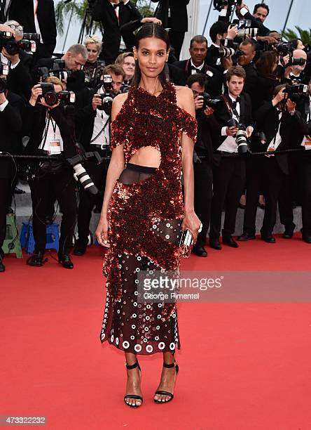 Liya Kebede attends the Mad Max Fury Road Premiere during the 68th annual Cannes Film Festival on May 14 2015 in Cannes France