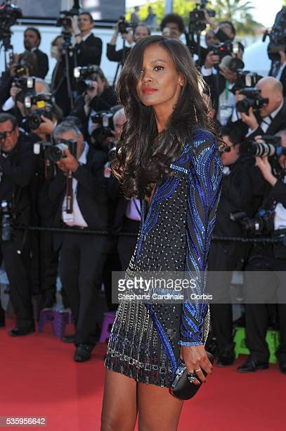 Liya Kebede attends the 'Mr Turner' premiere during the 67th Cannes Film Festival