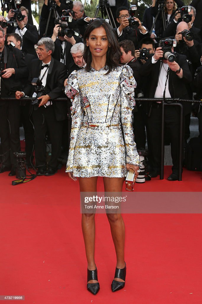 Liya Kebede attends the opening ceremony and 'La Tete Haute' ('Standing Tall') premiere during the 68th annual Cannes Film Festival on May 13, 2015 in Cannes, France.