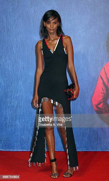 Liya Kebede attends the premiere of 'Franca Chaos And Creation' during the 73rd Venice Film Festival at Sala Giardino on September 2 2016 in Venice...
