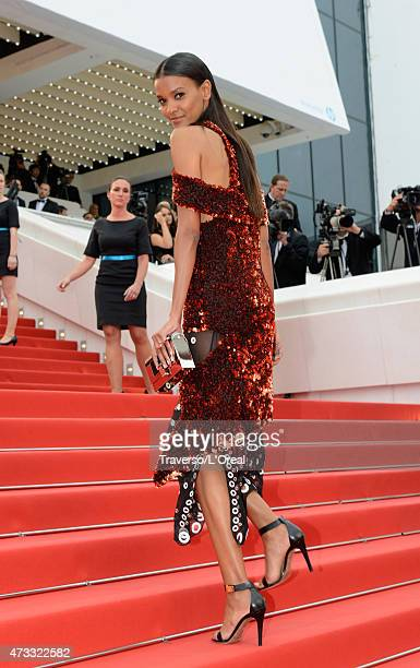 """Liya Kebede attends the premiere of """"Mad Max: Fury Road"""" during the 68th annual Cannes Film Festival on May 14, 2015 in Cannes, France."""